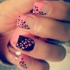 50 beautiful pink and black nail designs leopard nail designs
