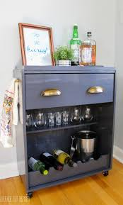 ikea rast hack a dresser becomes a bar cart stained trim door