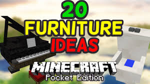 Cool Furniture In Minecraft by 20 Cool Furniture Ideas For Minecraft Pe Pocket Edition Youtube