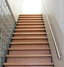 stainless steel and wooden handrail s3i group