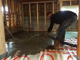 heated polished concrete floors design inc