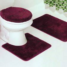 Burgundy Bathroom Rugs 3pcs Burgundy Microfiber Bathroom Rugs Contour Mat Set With Lid