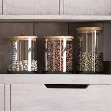 weston 3 piece kitchen canister set u0026 reviews birch lane