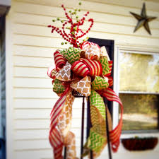 whimsical burlap ribbon tree topper burlap christmas tree