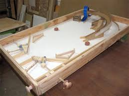 roller ball table top man makes pinball table from scrap wood techcrunch
