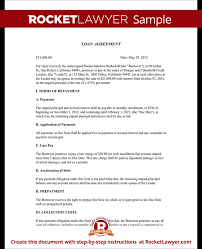 sample personal loan contract templates radiodigital co