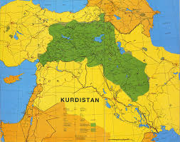 Map Of Turkey And Syria by Currently Fragmented Kurdistan Maps Middle East And Wars On