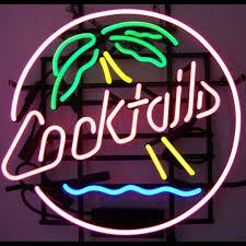 palm tree neon light cocktails and palm tree neon sign neon palm and neon lighting