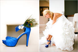 wedding shoes blue blue wedding shoes with peacock fur ipunya