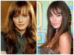 pictures of hairstyles for oblong face shapes best bangs for a long face shape hair world magazine