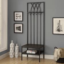 mudroom classic metal entryway bench with coat rack 8 double mudroom classic metal entryway bench with coat rack 8 double hooks coolest flower metal fretwork