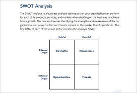 swot analysis template free word pdf sample creative template