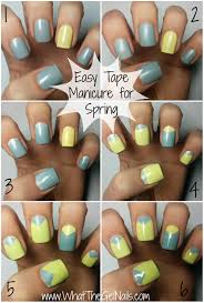 easy tape manicure for spring