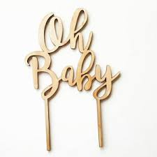 baby cake topper timber wood oh baby cake topper laser cut cake topper for a