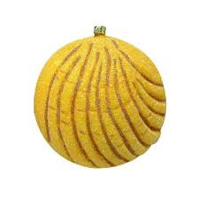 ornament pan dulce pink yellow concha hispanic