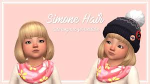 child bob haircut sims 4 my sims 4 blog simone hair a long bob hairstyle for toddlers by
