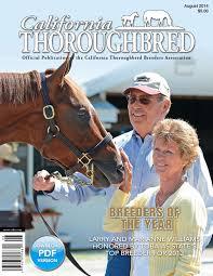California Flag Horse California Thoroughbred Magazine August 2015 By Ctba Issuu
