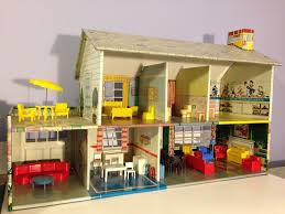 details about vintage marx tin litho 1950 doll house game room
