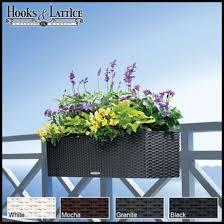 deck rail planter boxes planters for railings hooks u0026 lattice