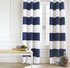 Threshold Ombre Curtains by Tommy Hilfiger Navy Blue White Cabana Stripe Window Curtain Panels
