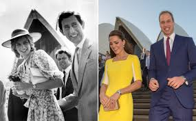 Princess Diana Prince Charles Kate Middleton And Prince William In Australia Compared With
