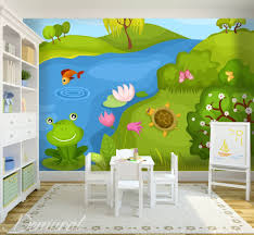 Kiss A Frog Child U0027s Room Wallpaper Mural Photo Wallpapers