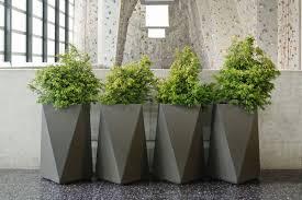 Modern Patio Design Ideas Luxury Modern Planters On Concrete Flooring For Modern