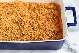 healthy sweet potato thanksgiving recipes thanksgiving dinner lightened up sweet potato casserole the