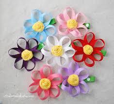 flower bow loopy ribbon hair clip tutorial