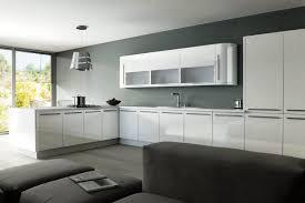 the stylish high gloss white kitchen cabinets