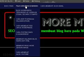 cara membuat album foto di blog wordpress cara membuat menu blog di atas header read more my blog