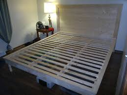 Diy Platform Bed With Headboard by Wood King Size Platform Bed Plans Ideas King Size Platform Bed