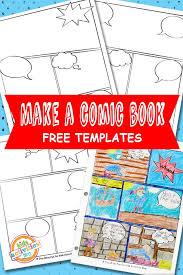 comic strip template printable kids activities