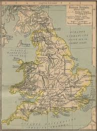 Map Of Britian A Map Of Britain As It Had Been Influenced By Rome Through 410