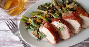 chicken breast stuffed with ricotta cheese wrapped in parma ham