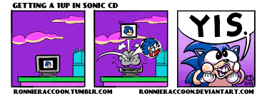 Cd Meme - getting a 1up in sonic cd by ronnieraccoon on newgrounds