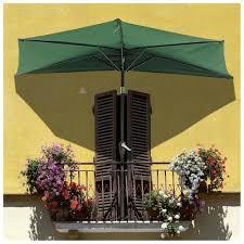 Half Umbrella For Patio Yescomusa Rakuten 9 Patio Outdoor Aluminum Half Umbrella Cafe