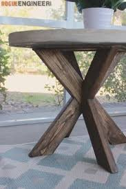 Free Plans Round Wood Picnic Table by Ana White Build A Y Truss Round Table Free And Easy Diy