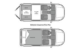 Conversion Van Floor Plans Edelweiss Campervan