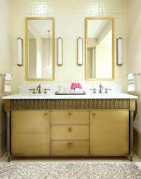 Bathroom Ideas Gold Carved Framed Bathroom Wall Mirrors Above Gold Gold Bathroom Light Fixtures
