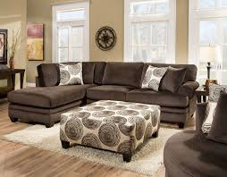 Comfy Chair With Ottoman by Albany Groovy Chocolate Sectional Sofa With Left Facing Chaise