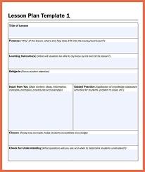 printable lesson plan template bio example