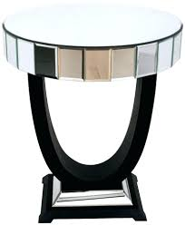side table round mirrored side table with drawer west elm