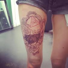 aries tattoo with rose pictures to pin on pinterest tattooskid
