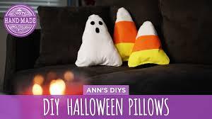 diy halloween decorative pillows hgtv handmade youtube