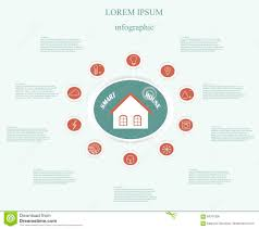 House Technology by Line Smart House Icons Stock Vector Image 74884201