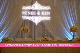 wedding backdrop monogram monogram gobo lights for wedding decor in vancouver bcdecor