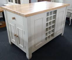 solid oak u0026 painted u0027off white u0027 kitchen island with cupboard