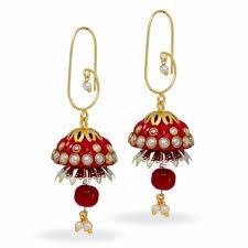 jhumka earring trendy designer handmade rajasthani tribal lac jhumka earring for