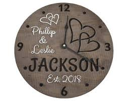 wedding clocks gifts wedding gift clock etsy